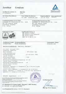 GS&LVD certificate of STC-8108LC